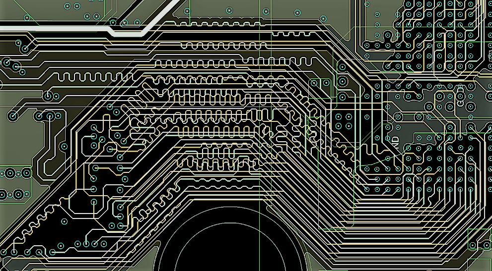 circuit board traces